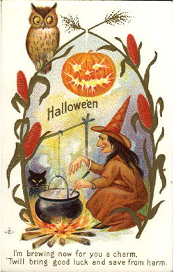 Owl-witch-halloween-postcard